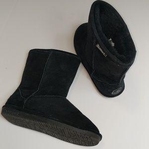 Bearpaw Black Short Boots Size 10 EXCELLENT
